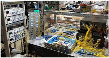 First demonstration of a 1 petabit per second network node