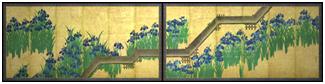尾形光琳作 八橋図屏風(画像提供:メトロポリタン美術館)